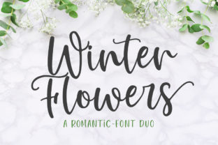 Winter Flowers Script & Handwritten Font By Great Studio