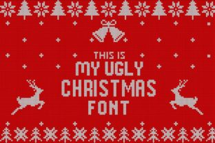 My Ugly Christmas Decorativa Fuente Por svgsupply