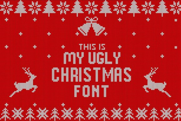 My Ugly Christmas Decorative Font By svgsupply