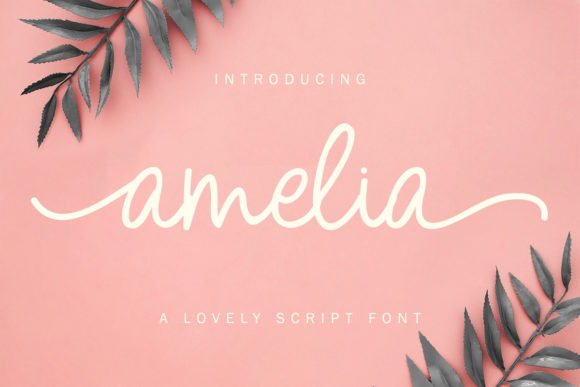 Print on Demand: Amelia Script Script & Handwritten Font By Yumna_Type