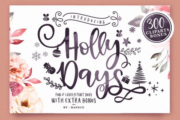 Holly Days Script & Handwritten Font By HansCo