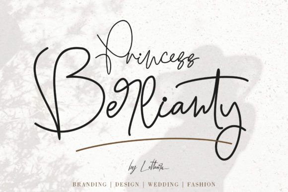 Print on Demand: Princess Berlianty Script & Handwritten Font By thomasaradea