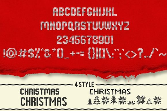 My Ugly Christmas Font By svgsupply Image 3