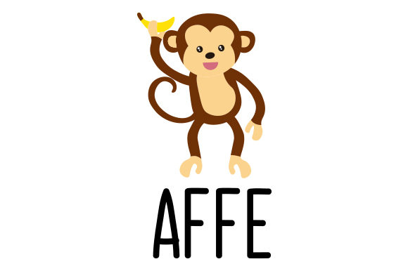 Download Free Affe Svg Cut File By Creative Fabrica Crafts Creative Fabrica for Cricut Explore, Silhouette and other cutting machines.