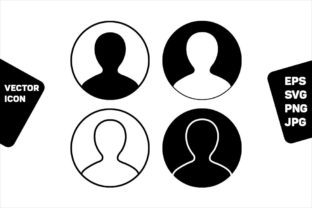 Print on Demand: Avatar Icon Vector User Person Symbol Graphic Icons By TukTuk Design