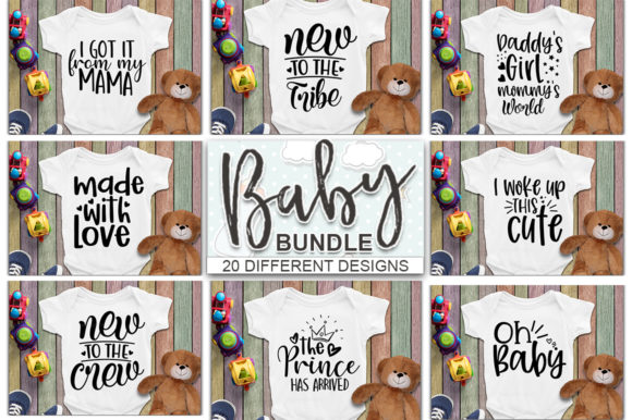 Download Free Baby Bundle Newborn Graphic By Designdealy Com Creative Fabrica for Cricut Explore, Silhouette and other cutting machines.
