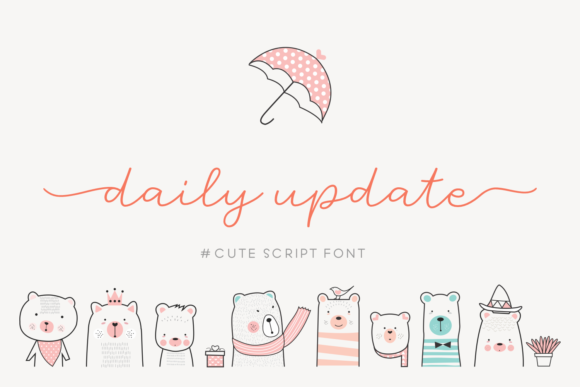 Daily Update Script & Handwritten Font By Situjuh