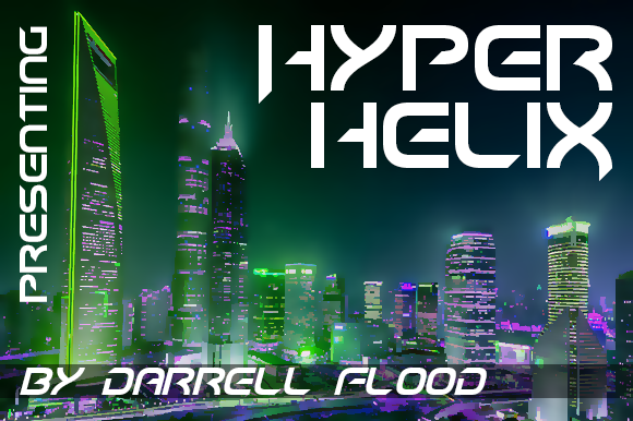 Print on Demand: Hyper Helix Display Font By Dadiomouse