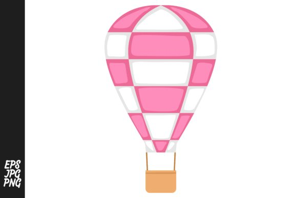 Print on Demand: Hot Air Balloon Vector Gráfico Crafts Por Arief Sapta Adjie