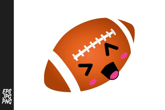 Print on Demand: Cute Rugby Ball Cartoon Expressions Graphic Crafts By Arief Sapta Adjie - Image 1