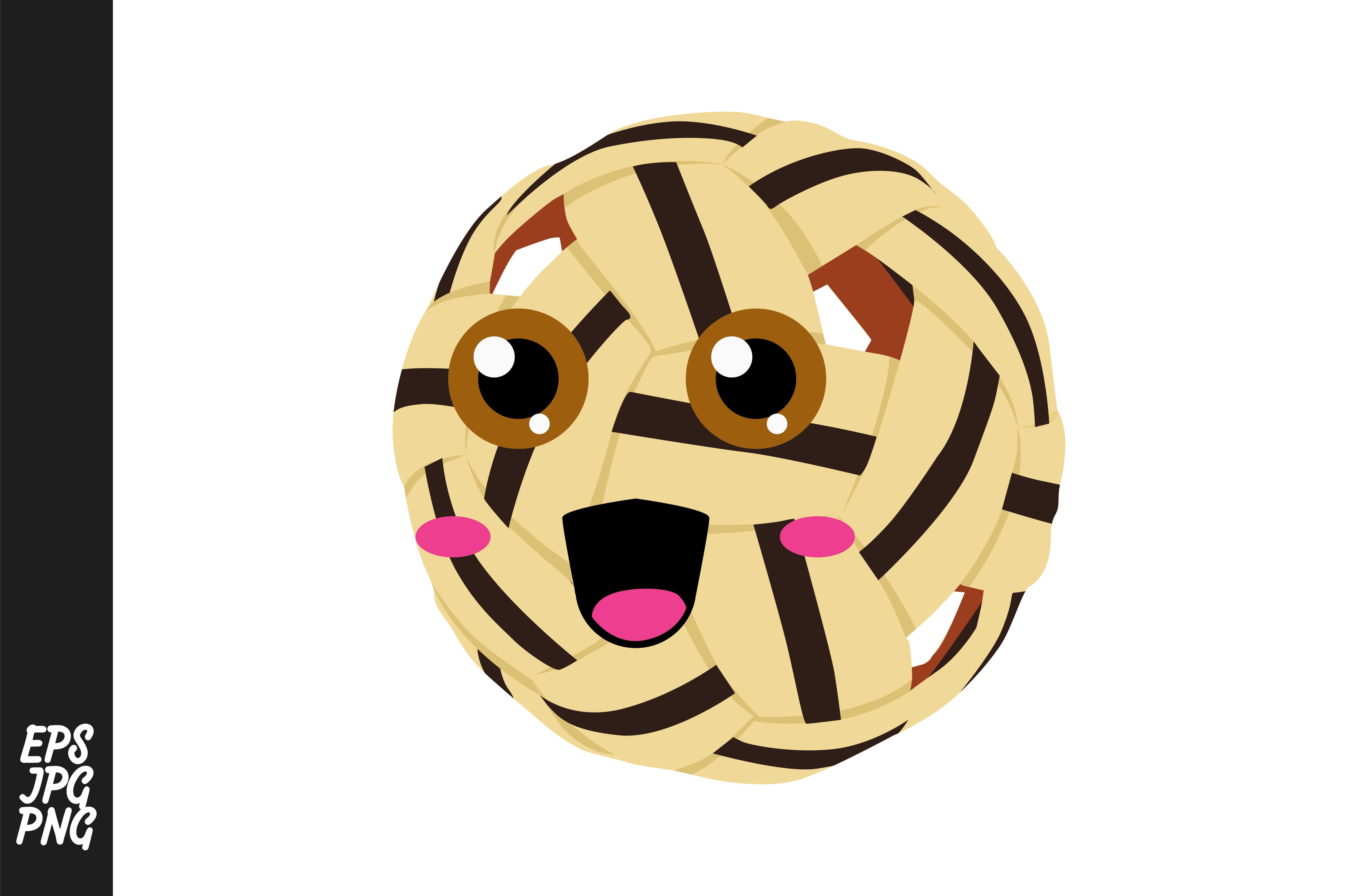 Download Free Cute Takraw Ball Cartoon Expressions Graphic By Arief Sapta SVG Cut Files