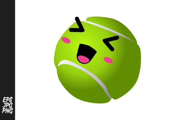Download Free Cute Tennis Ball Cartoon Expressions Graphic By Arief Sapta for Cricut Explore, Silhouette and other cutting machines.