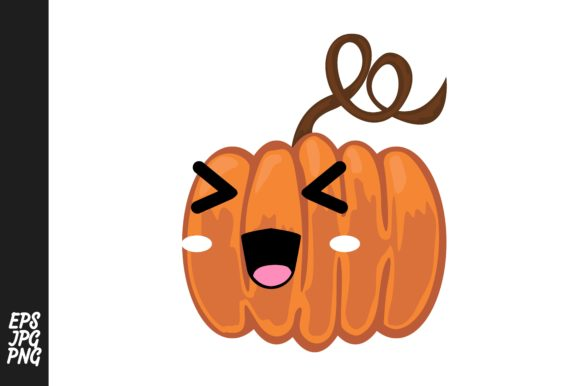 Print on Demand: Cute Pumpkin Cartoon Expressions Vector Graphic Crafts By Arief Sapta Adjie