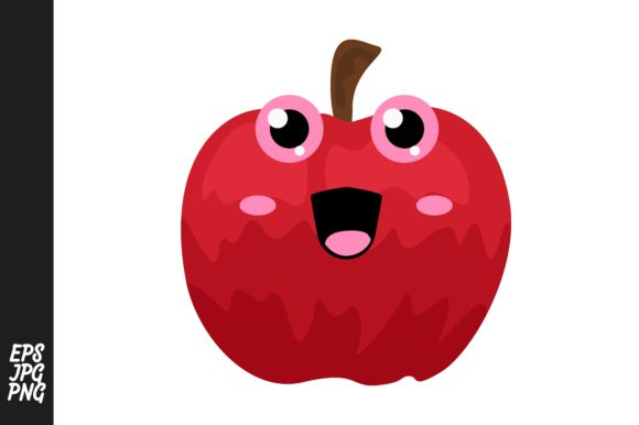 Print on Demand: Cute Apple Cartoon Expressions Vector Graphic Crafts By Arief Sapta Adjie