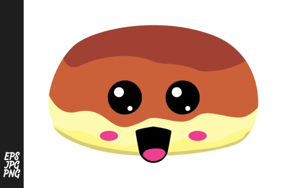 Print on Demand: Cute Bread Cartoon Expressions Vector Graphic Crafts By Arief Sapta Adjie - Image 1