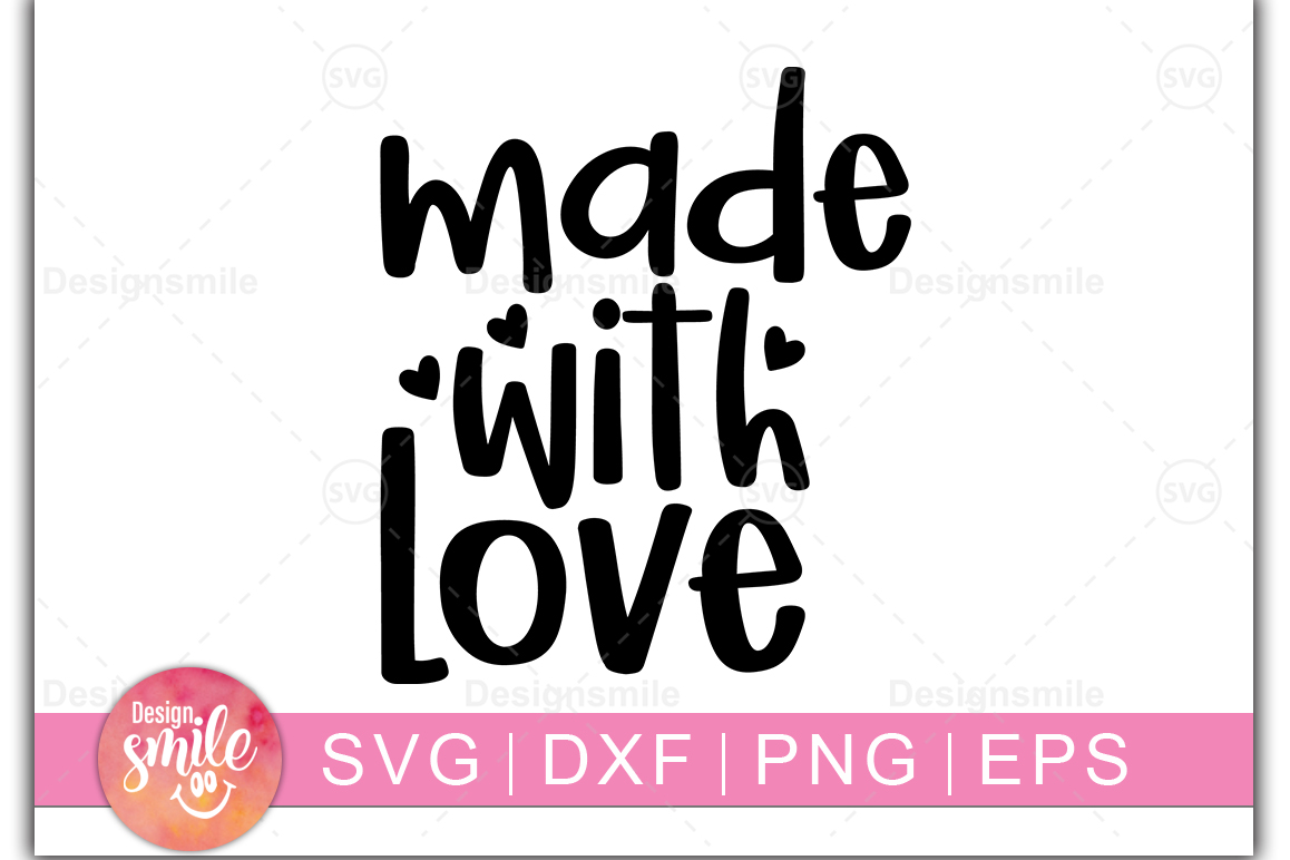 Download Free Made With Love Graphic By Designdealy Com Creative Fabrica for Cricut Explore, Silhouette and other cutting machines.