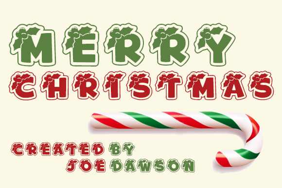 Download Free Merry Christmas Font By Joe Dawson Creative Fabrica for Cricut Explore, Silhouette and other cutting machines.