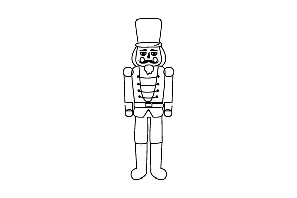 Nutcracker Line Art Style Craft Design By Creative Fabrica Crafts