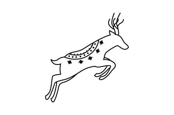 Download Free Scandinavian Reindeer Line Art Style Svg Cut File By Creative for Cricut Explore, Silhouette and other cutting machines.