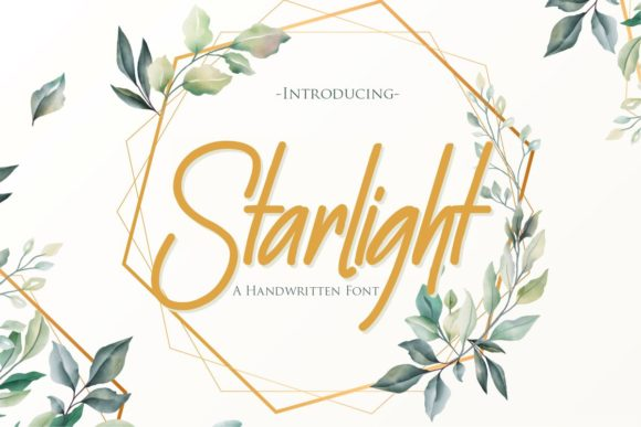 Print on Demand: Starlight Script & Handwritten Font By Gilar Studio - Image 1