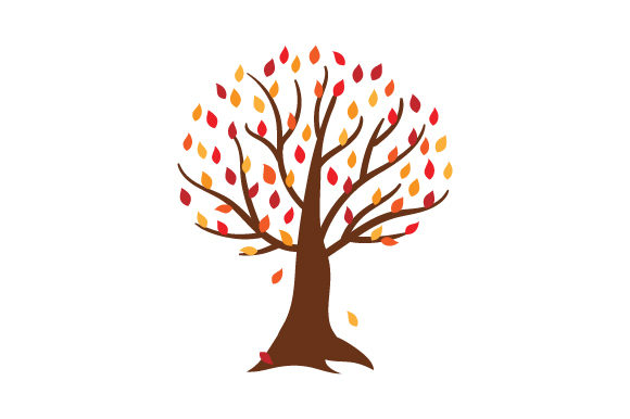 Tree with Orange and Red Leaves Thanksgiving Craft Cut File By Creative Fabrica Crafts