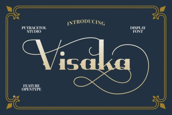 Print on Demand: Visaka Display Font By putracetol