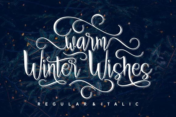 Print on Demand: Warm Winter Wishes Script & Handwritten Font By Rifki (7ntypes) - Image 1