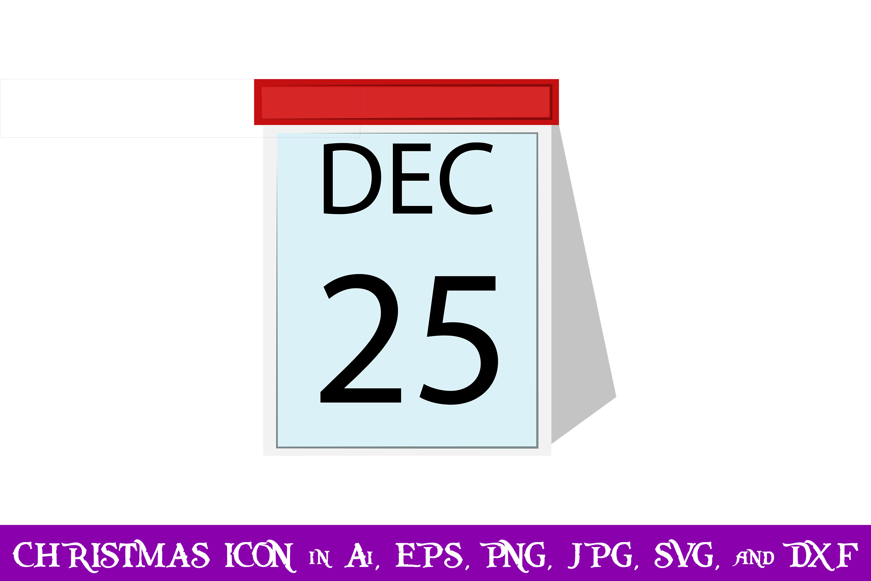 Download Free Calendar Christmas Icon Graphic By Purplespoonpirates Creative SVG Cut Files