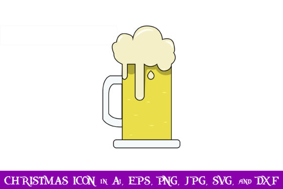 Print on Demand: Beer Christmas Icon Graphic Icons By purplespoonpirates