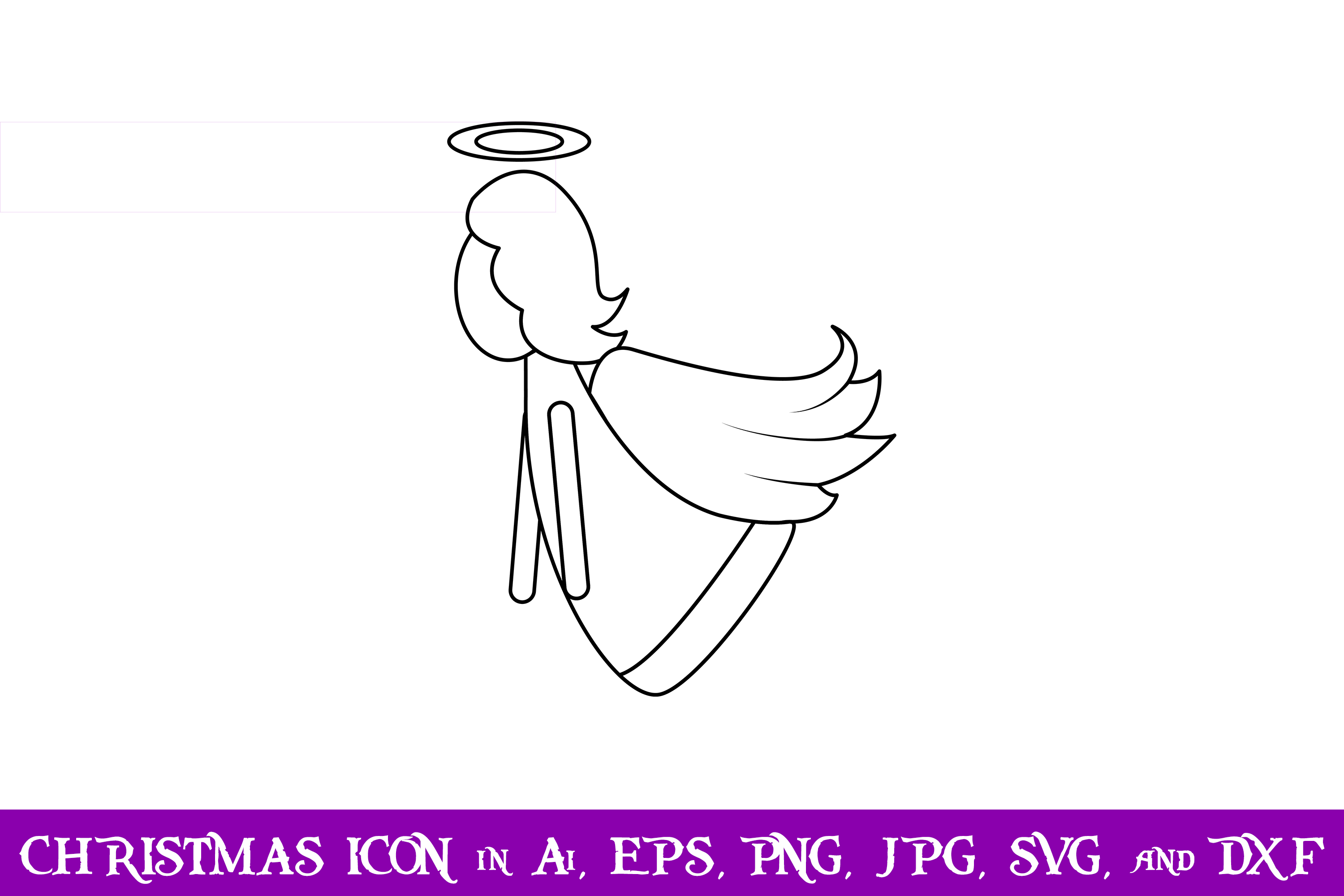 Download Free Angel Christmas Icon Graphic By Purplespoonpirates Creative for Cricut Explore, Silhouette and other cutting machines.