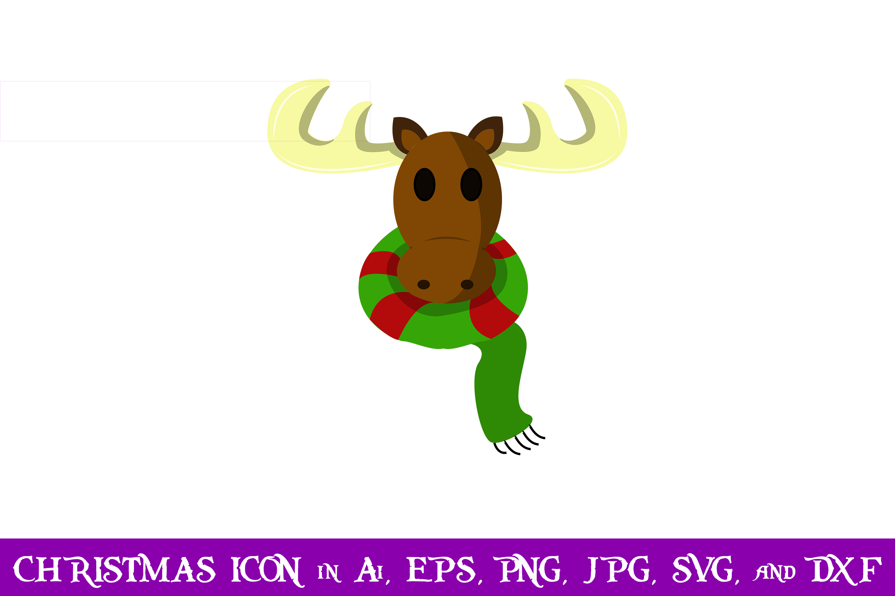 Download Free Deer Christmas Icon Graphic By Purplespoonpirates Creative Fabrica for Cricut Explore, Silhouette and other cutting machines.
