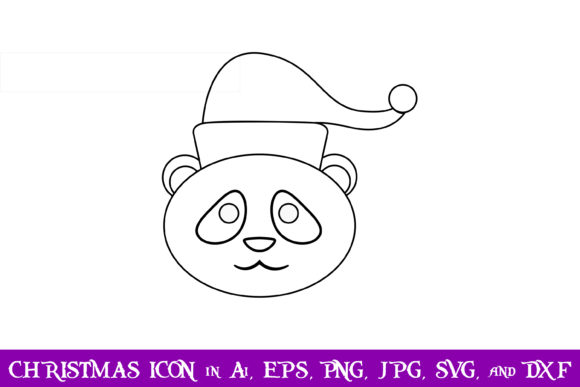 Download Free Panda Christmas Icon Graphic By Purplespoonpirates Creative Fabrica for Cricut Explore, Silhouette and other cutting machines.