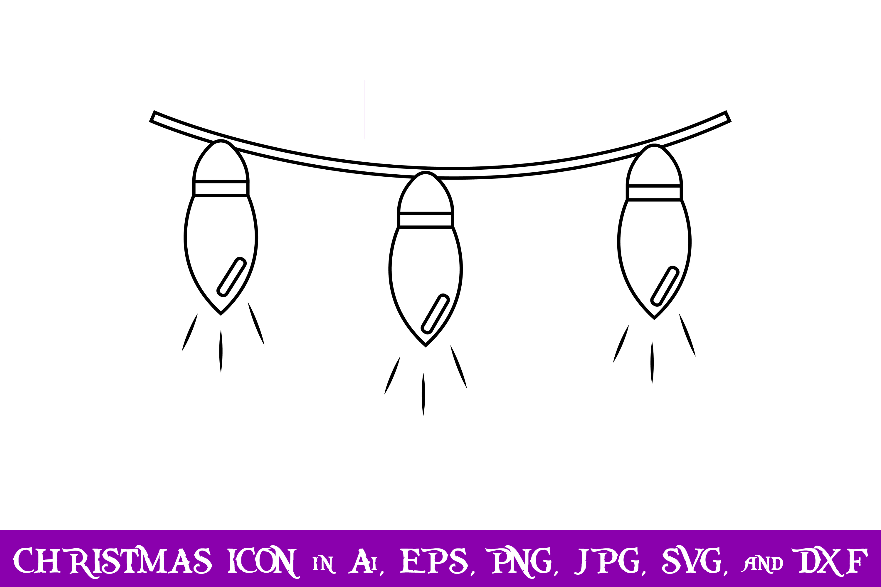 Download Free String Lights Christmas Icon Graphic By Purplespoonpirates for Cricut Explore, Silhouette and other cutting machines.