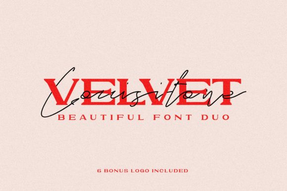 Print on Demand: Velvet Lousitone Duo Script & Handwritten Font By ovoz.graphics