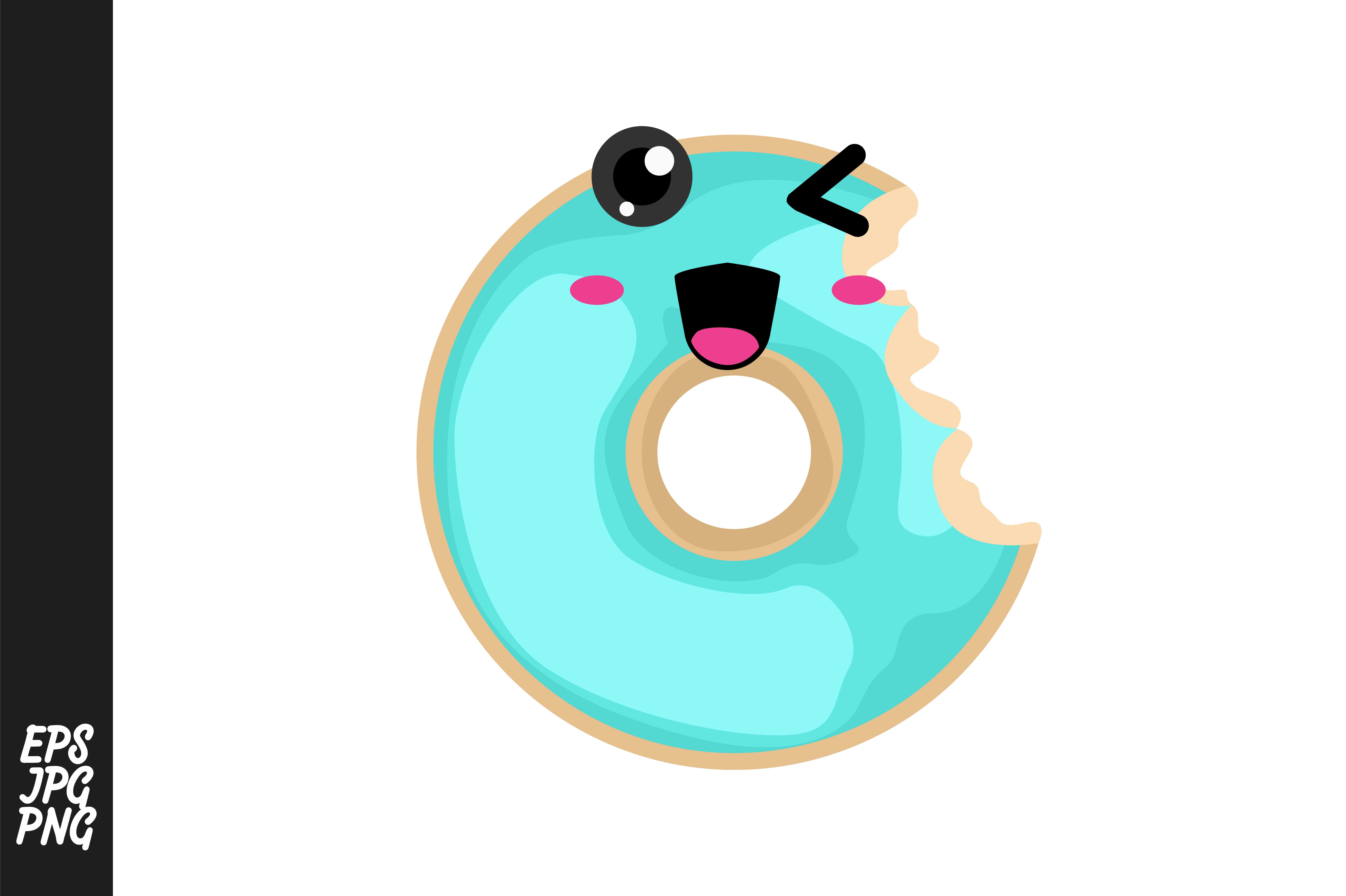 Download Free Cute Donuts Cartoon Vector Graphic By Arief Sapta Adjie Ii for Cricut Explore, Silhouette and other cutting machines.