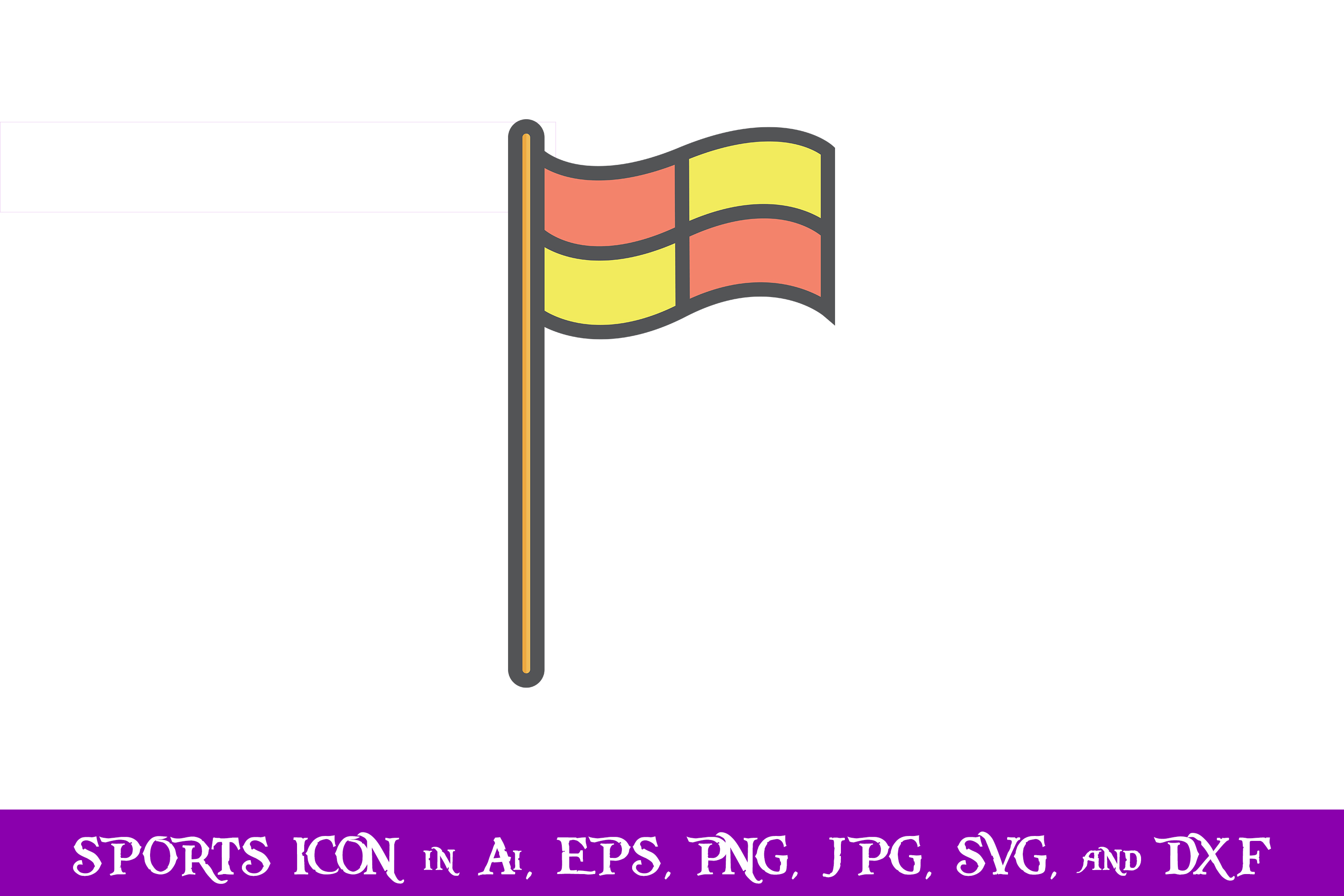 Download Free Corner Flag Soccer Sport Icon Graphic By Purplespoonpirates for Cricut Explore, Silhouette and other cutting machines.