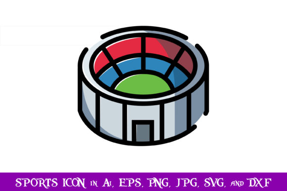 Download Free Stadium Sport Icon Graphic By Purplespoonpirates Creative Fabrica for Cricut Explore, Silhouette and other cutting machines.