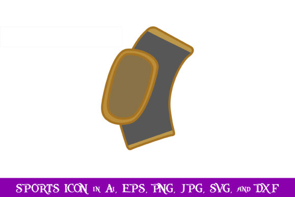 Download Free Knee Pads Volleyball Sport Icon Graphic By Purplespoonpirates for Cricut Explore, Silhouette and other cutting machines.