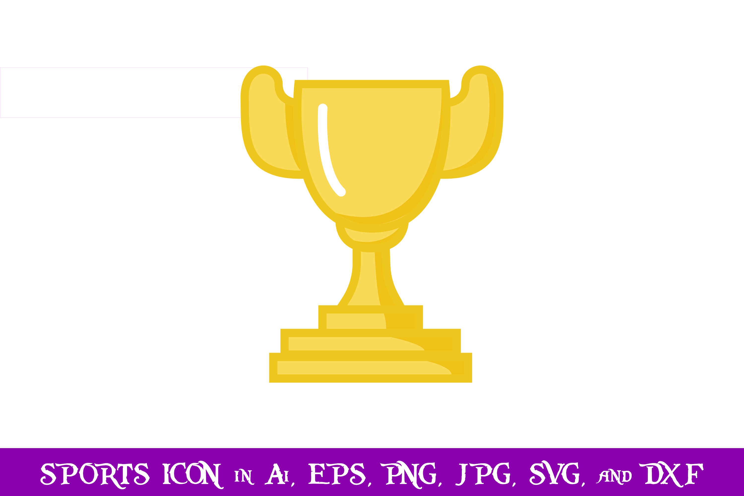 Download Free Winner Trophy Sport Icon Graphic By Purplespoonpirates for Cricut Explore, Silhouette and other cutting machines.