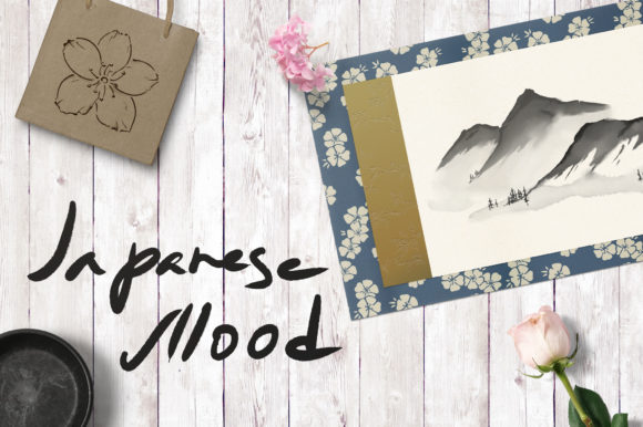 Japanese Mood Graphic Illustrations By AlenaO