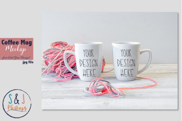 Two Coffee Mugs Mockup Graphic Product Mockups By sandjmockups