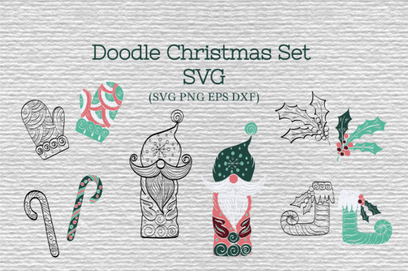 Doodle Christmas Set  Graphic Crafts By Tatyana_Zenartist - Image 1