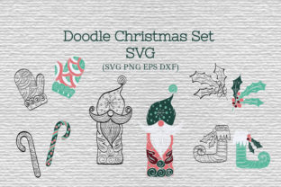 Doodle Christmas Set SVG Graphic By Tatyana_Zenartist