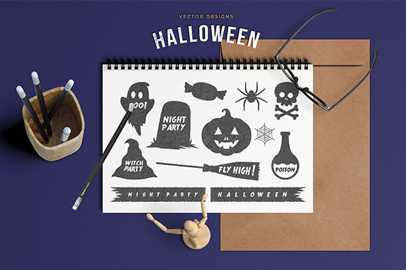 Download Free Halloween Silhouette Character Graphic By Rawtwo Std Creative for Cricut Explore, Silhouette and other cutting machines.
