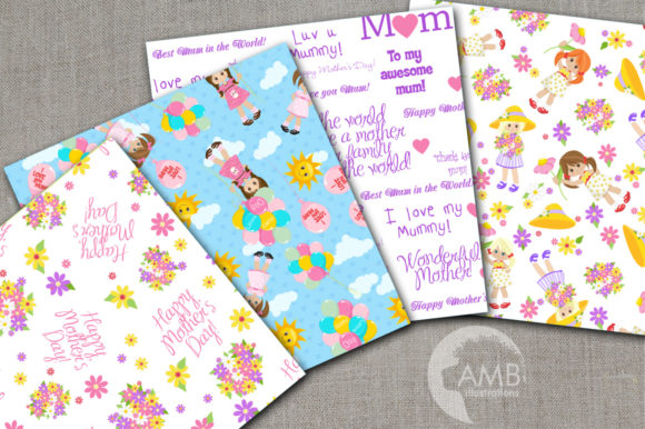 Mother's Day Digital Papers Graphic Patterns By AMBillustrations - Image 2