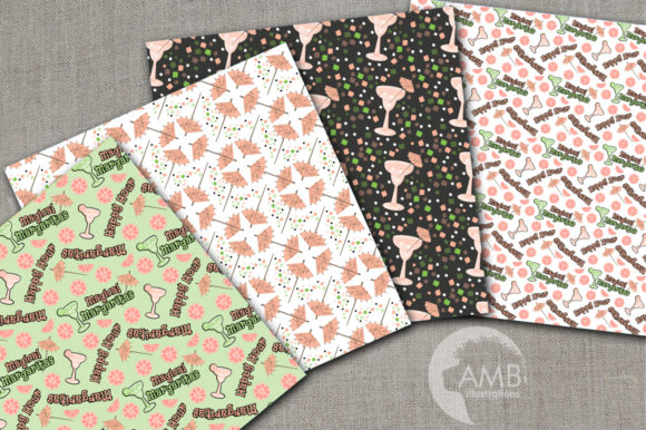 Margarita Digital Papers Graphic Patterns By AMBillustrations - Image 2