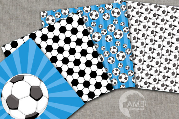 Boy Soccer Field Digital Papers Graphic Patterns By AMBillustrations