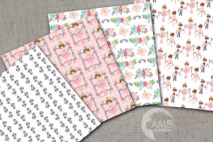 Floral Ballerina Digital Papers AMB-2607 Graphic By AMBillustrations