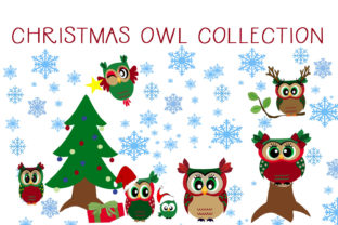Download Free The Christmas Owl Collection Graphic By Capeairforce Creative for Cricut Explore, Silhouette and other cutting machines.