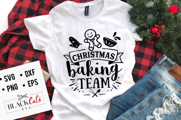 Christmas Baking Team SVG Graphic Crafts By BlackCatsMedia